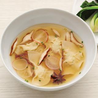 Shrimp-and-Chive-Dumpling Soup