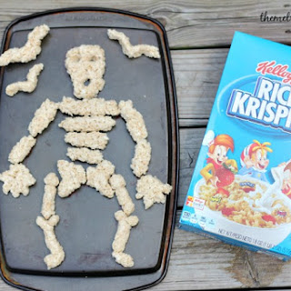 Skeleton Rice Krispies Pull Apart Cake