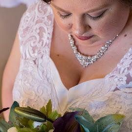 Beautiful Bride by Ally Schumacher - Wedding Bride ( bride, beautiful, beauty, bouquet, wedding )