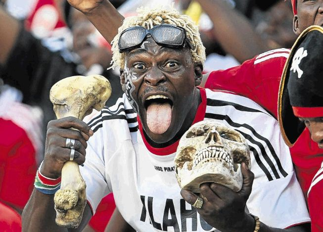 A Pirates fan celebrates. Picture: SUNDAY TIMES