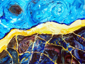 Photo: oil on canvas - abstract