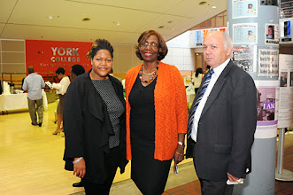 Photo: Midlle_Dr. Marcia V. Keizs, President of York College/CUNY.