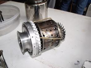 Photo: Partie d'un réacteur en cours de fabrication