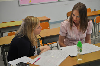 Photo: GEO's Megan Birney and Lynette Lierman discussing during a breakout session.