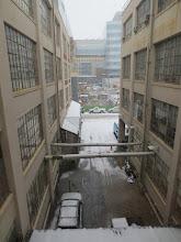Photo: Loading area behind buildings N51 and N52, MIT