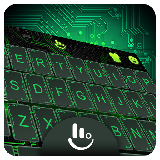 Future Chip Technology Keyboard Theme
