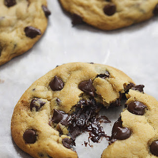 Hot Fudge Stuffed Chocolate Chip Cookies.