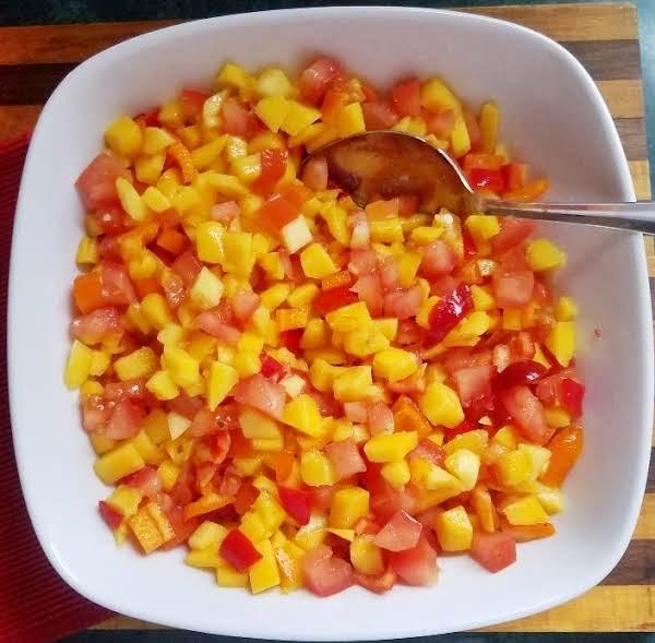 Easy Mango Tomato Pico De Gallo By Cleanfreshcuisine