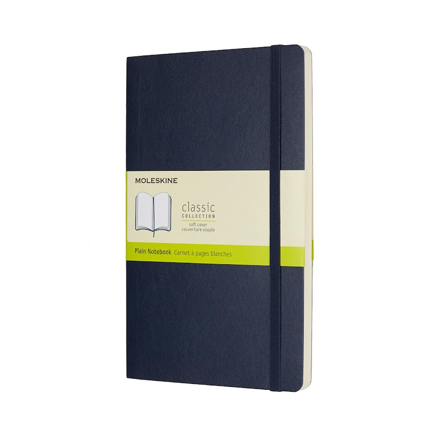 Classic Soft Cover Large Sapphire Blue