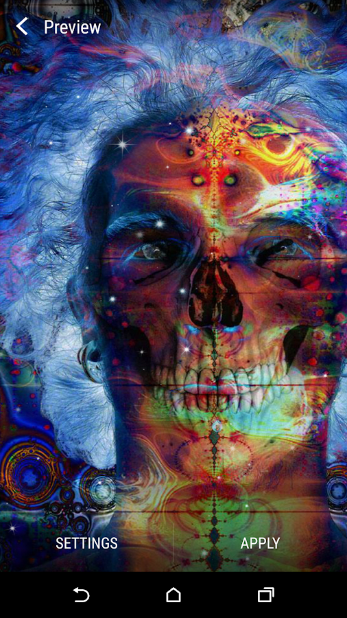 Psychedelic live wallpaper android apps on google play for Trippy house music