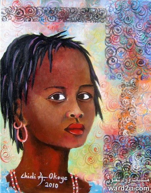 النحات النيجيري Chidi Okoye