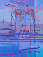 "Photo: ""Cranes"", acrylic on canvas 16"" x 12"", © Nancy Roberts"