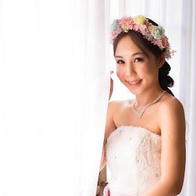 Brightness Bride by Billy C S Wong - Wedding Bride & Groom ( high key, brightness, window, bride, groom,  )