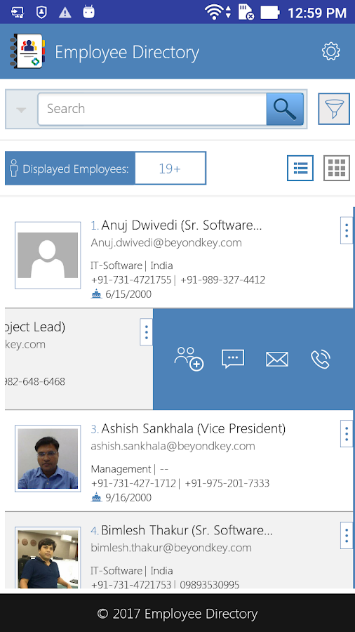 Employee Directory- screenshot