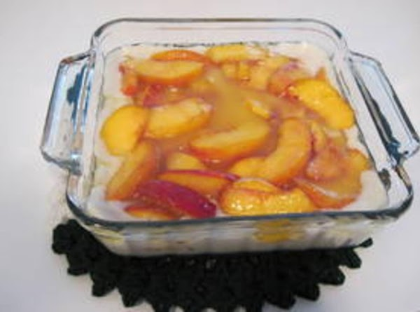 Sprinkle fruit over the top.  (if using fresh fruit, you may want to...