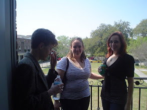 Photo: Sigma Tau Delta mixer with Armstrong Atlantic chapter members, Spring 2011