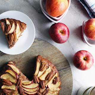 Rustic Apple Cinnamon Pecan Cake.