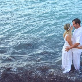 Couple Ibiza by Martín Silva Cosentino - People Couples ( ibiza, white, sea, couple, portrait,  )