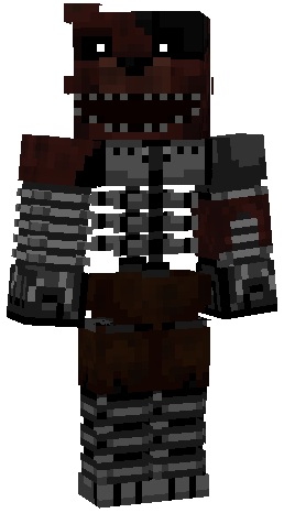 Minecraft Wallpaper 3d Herobrine Ignited Foxy 128x128 Nova Skin