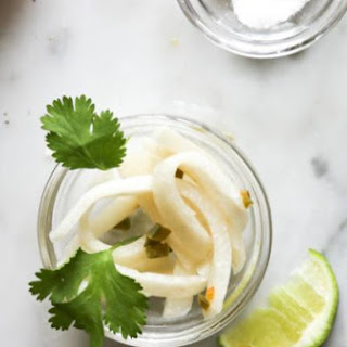 Easy Pickled Jicama with Jalapeño Lime and Cayenne Pepper