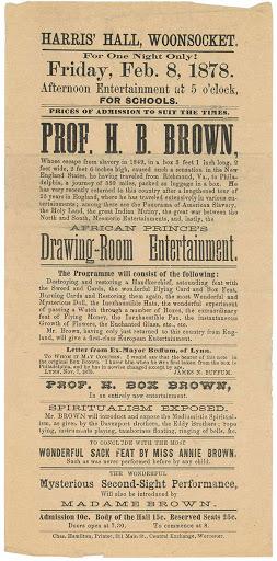 "Rare ephemera shows legacy of Henry ""Box"" Brown"
