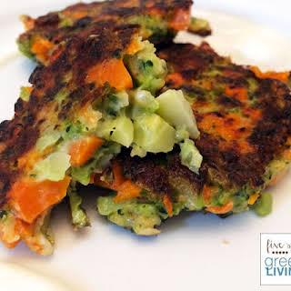 Crispy Broccoli Carrot Fritters.