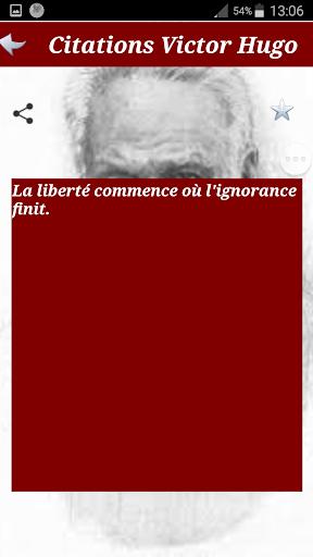Citations de Victor HUGO screenshot 4
