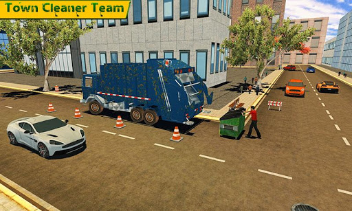 Garbage Truck Simulator 2018 City Cleaner Service  screenshots 1