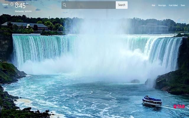 Waterfalls Wallpapers Theme New Tab