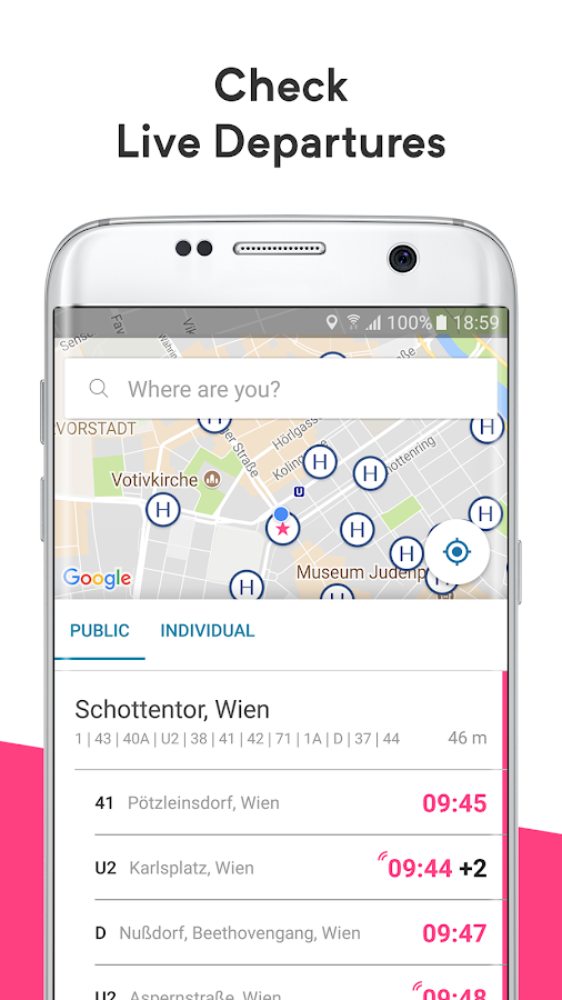 wegfinder: public transport, ticket, route planner- screenshot