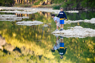 Photo: Reflections in the Pedernales River