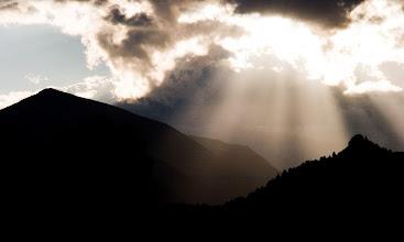 Photo: The sun setting over Sundance Mountain in August.