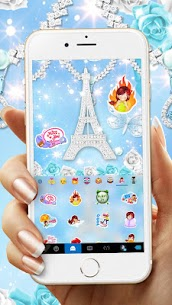 Lux Butterfly Tower diamond Keyboard – Lux Theme 1.0 Android APK Mod 3