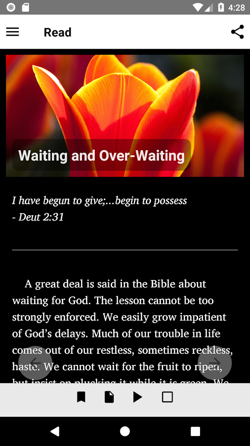 Streams in the Desert Daily Devotional- screenshot
