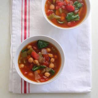 Slow Cooker Vegetable Soup Recipe (vegetarian).