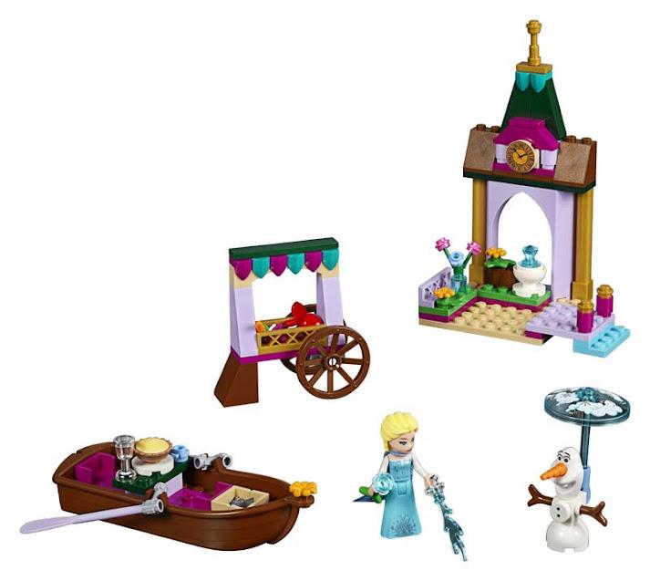 Contenido de Lego® 41155 Aventura en el Mercado de Elsa
