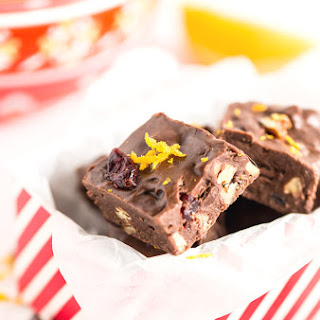 Chocolate Orange Cranberry Fudge