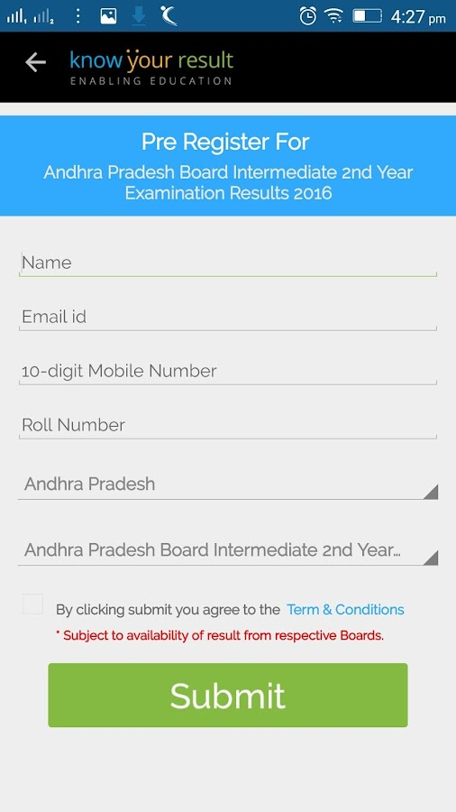 KYR- CBSE, State Board Results- screenshot