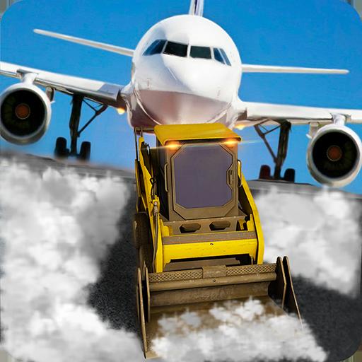 模拟の空港地上スタッフの除雪機 LOGO-記事Game