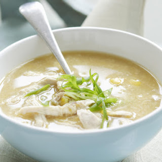 Asian Style Chicken and Sweet Corn Soup.