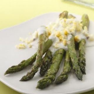 Roasted Asparagus with Garlic-Lemon Sauce.