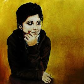 Potrait by Samriddhi Dutta - Painting All Painting ( watercolor, potrait, painting, watercolour )