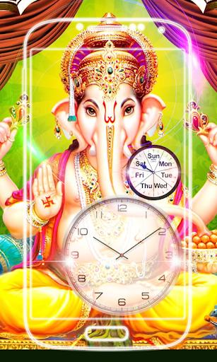 Ganesh Clock Live Wallpaper screenshot 3