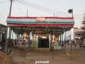 Photo: hanumAn sannidhi uthsavam day 1 - nicely decorated hanumAn sannidhi
