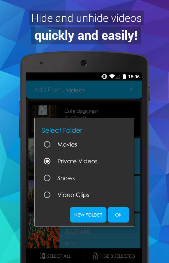 Video Locker - Hide Videos- screenshot