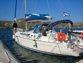 Photo: Veneen nimi oli Vista III ja tyyppi Sun Odyssey 43