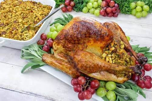 """My Mom's Bread Dressing (Stuffing)""""This recipe only appeared around the holidays and..."""