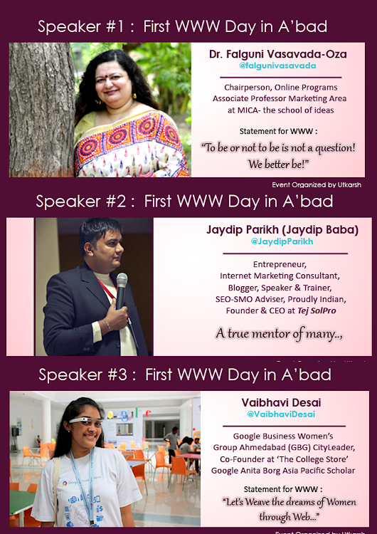 Women On Web (WoW) : First WWW Day Celebration at Ahmedabad