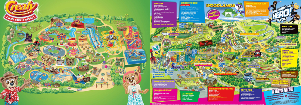 Explore the open attractions in East and South Devon such as Crealy and Woodlands.