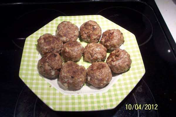 My  Famous  Meatballs, ..golf Ball Size Recipe